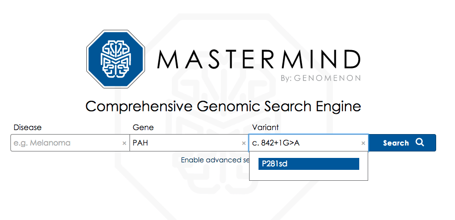 Free Text Variant Search With Mastermind 1.10
