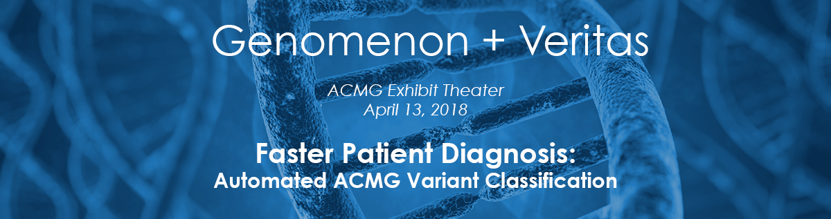 Genomenon and Veritas present at ACMG 2018