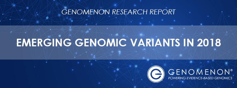 Genomenon Research Report 2018 - Emerging Genomic Variants