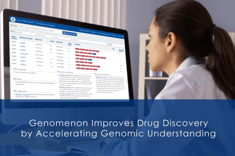 Genomenon improves drug discovery by accelerating genomic understanding