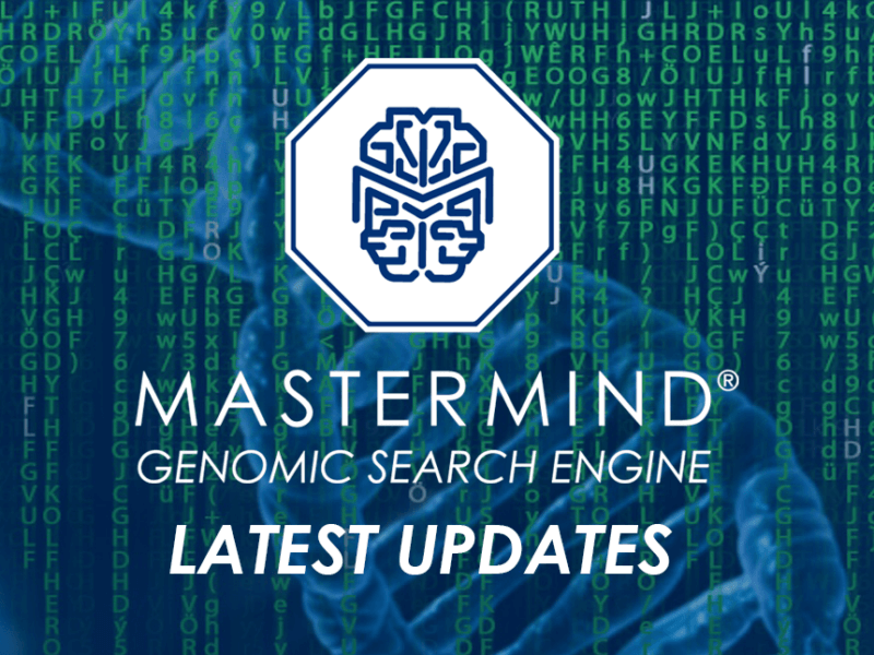 Latest Updates to the Mastermind Genomic Search Engine