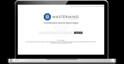 Mastermind Genomic Search Engine laptop